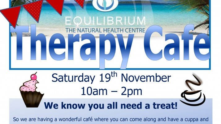 Therapy Cafe & free taster treatments